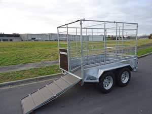 tandem axle stock trailer